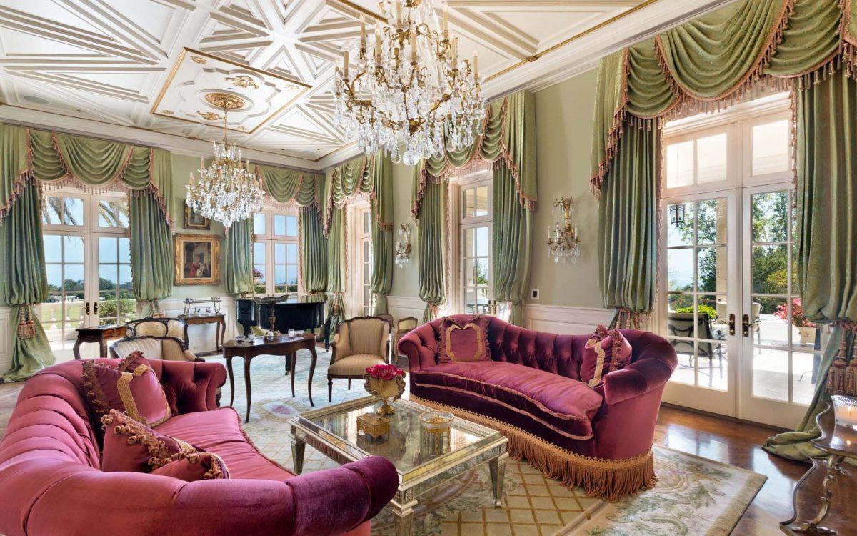 formal living room in patrick nesbitt's montecito estate